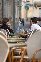 A cafe. Bordeaux city, Aquitaine, Gironde, France