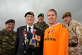 04/11/2009 Blackpool FC Poppy Shirt-Army-Veterans..© Phill Heywood