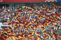 Deutsche Fans mit ihren Fahnen beim Einlauf - 17.06.2018: Deutschland vs. Mexico, Luschniki Stadium Moskau