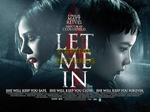 POSTER ART.in Let Me in.*Filmstill - Editorial Use Only*.CAP/PLF.Supplied by Capital Pictures.