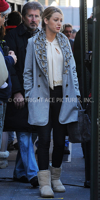 WWW.ACEPIXS.COM . . . . . ....October 19 2009, New York City....Actress Blake Lively on the set of the TV show 'Gossip Girl' in Midtown Manhattan on October 19 2009 in New York City....Please byline: KRISTIN CALLAHAN - ACEPIXS.COM.. . . . . . ..Ace Pictures, Inc:  ..tel: (212) 243 8787 or (646) 769 0430..e-mail: info@acepixs.com..web: http://www.acepixs.com