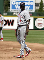 August 15, 2004:  First baseman Ryan Howard (6) of the Scranton-Wilkes Barre Red Barons, Class-AAA International League affiliate of the Philadelphia Phillies, during a game at Frontier Field in Rochester, NY.  Photo by:  Mike Janes/Four Seam Images