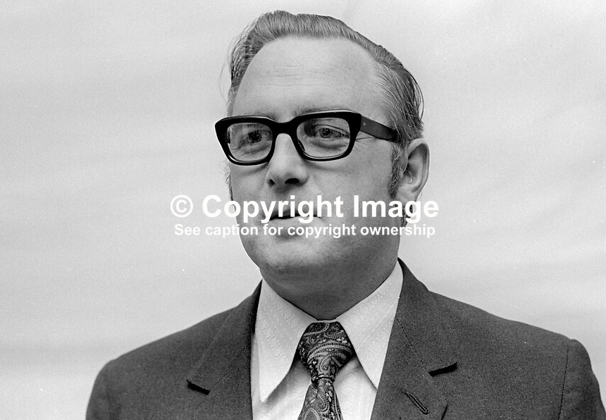 Edward McGrady, chairman, SDLP, Social Democratic &amp; Labour Party, N Ireland, October 1972, 197210000665b<br /><br />Copyright Image from Victor Patterson, 54 Dorchester Park, Belfast, UK, BT9 6RJ<br /><br />t1: +44 28 9066 1296 (from Rep of Ireland 048 9066 1296)<br />t2: +44 28 9002 2446 (from Rep of Ireland 048 9002 2446)<br />m: +44 7802 353836<br /><br />e1: victorpatterson@me.com<br />e2: victorpatterson@gmail.com<br /><br />The use of my copyright images is subject to my Terms &amp; Conditions.<br /><br />It is IMPORTANT that you familiarise yourself with them. They are available on my website at www.victorpatterson.com.<br /><br />None of my copyright images may be used on a website unless they are visibly watermarked, i.e. &copy; Victor Patterson within the body of the visible image. Metadata denoting my copyright must NOT be deleted. <br /><br />Web use is extra at currently recommended NUJ rates.