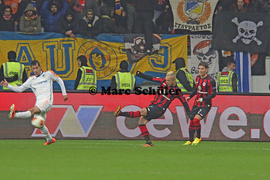 Stephan Schröck (Eintracht) zieht ab - Eintracht Frankfurt vs. APOEL Nikosia, Commerzbank Arena, Europa League Gruppenphase