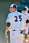 18 August 2012: Vermont Lake Monsters infielder Daniel Robertson awaits the start of play prior to a game against the Brooklyn Cyclones at Centennial Field in Burlington, Vermont. The Lake Monsters defeated the Cyclones 4-1 in NY Penn League action. Mandatory Credit: Ed Wolfstein Photo