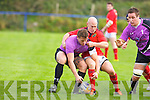 Munster's Peter Stringer tackles hard in the British and Irish Cup at .O'Dowd park, Tralee on Saturday..