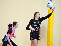 Silver Fern's Irene van Dyk at training for the New World Netball Series match, Wallacetown Stadium, Invercargill, New Zealand, Saturday, September 14, 2013. ©MBPHOTO/Dianne Manson Michael Bradley Photography