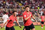 Kim Minjae of South Korea celebrates scoring his goal during the AFC Asian Cup UAE 2019 Group C match between South Korea (KOR) and China (CHN)  at Al Nahyan Stadium on 16 January 2019 in Abu Dhabi, United Arab Emirates. Photo by Marcio Rodrigo Machado / Power Sport Images