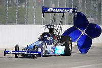Nov 14, 2010; Pomona, CA, USA; NHRA top fuel dragster driver Brandon Bernstein during the Auto Club Finals at Auto Club Raceway at Pomona. Mandatory Credit: Mark J. Rebilas-
