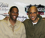 Guiding Light's Lawrence Saint-Victor & Thom Scott II star in Black Angels Over Tuskegee on January 24, 2011 at the Actors Temple Theatre, New York City, New York. (Photo by Sue Coflin/Max Photos)
