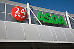 Asda superstore 24 hours sign, Ipswich, Suffolk, England