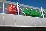Asda superstore 24 hours sign, Ipswich, Suffolk, England
