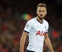 27th October 2019; Anfield, Liverpool, Merseyside, England; English Premier League Football, Liverpool versus Tottenham Hotspur; Harry Kane of Tottenham  - Strictly Editorial Use Only. No use with unauthorized audio, video, data, fixture lists, club/league logos or 'live' services. Online in-match use limited to 120 images, no video emulation. No use in betting, games or single club/league/player publications
