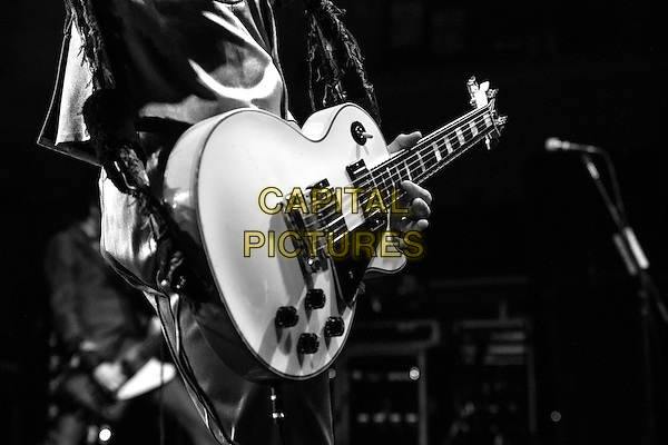 01 December 2015: British rock band The Darkness play the Corn Exchange, Cambridge as part of their Blast of Our Kind world tour. The Darkness are: Justin Hawkins (lead vocals / guitar); Dan Hawkins (Lead guitar); Frankie Poullain (bass / Vocals); Rufus Taylor (Drums)<br /> CAP/SW/PP<br /> &Acirc;&copy;Stuart Hogben/PP/Capital Pictures