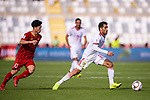 Vahid Amiri of Iran (R) is followed by Nguyen Cong Phuong of Vietnam (L) during the AFC Asian Cup UAE 2019 Group D match between Vietnam (VIE) and I.R. Iran (IRN) at Al Nahyan Stadium on 12 January 2019 in Abu Dhabi, United Arab Emirates. Photo by Marcio Rodrigo Machado / Power Sport Images