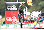 Green Jersey Nairo Quintana (COL) Movistar Team crosses the finish line in 2nd place at the end of Stage 9 of La Vuelta 2019 running 99.4km from Andorra la Vella to Cortals d'Encamp, Spain. 1st September 2019.<br /> Picture: Luis Angel Gomez/Photogomezsport | Cyclefile<br /> <br /> All photos usage must carry mandatory copyright credit (© Cyclefile | Luis Angel Gomez/Photogomezsport)