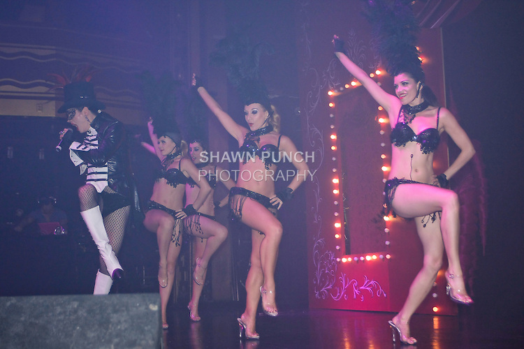Dancers perform at Webster Hall night club on 125 East 11th Street, August 13, 2011.