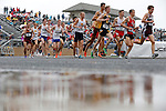 28 MAY 2016:  The men's 5,000 meter race during the Division III Men's and Women's Outdoor Track & Field Championship held at Walston Hoover Stadium on the Wartburg College campus in Waverly, IA. Ian LaMere                of Wis.-Platteville won the race with a time of 14:24.02. Conrad Schmidt/NCAA Photos