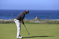 Beau Hossler (USA) putts on the 7th green of Monterey Peninsula CC during Saturday's Round 3 of the 2018 AT&amp;T Pebble Beach Pro-Am, held over 3 courses Pebble Beach, Spyglass Hill and Monterey, California, USA. 10th February 2018.<br /> Picture: Eoin Clarke | Golffile<br /> <br /> <br /> All photos usage must carry mandatory copyright credit (&copy; Golffile | Eoin Clarke)