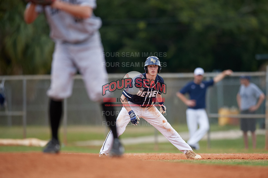 Bethel Wildcats pinch runner Nick Kulseth (3) during the first game of a double header against the Edgewood Eagles on March 15, 2019 at Terry Park in Fort Myers, Florida.  Bethel defeated Edgewood 6-0.  (Mike Janes/Four Seam Images)