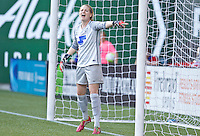 Portland, Oregon - Sunday September 4, 2016: Boston Breakers goalkeeper Libby Stout (1) during a regular season National Women's Soccer League (NWSL) match at Providence Park.