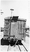 End view of D&amp;RGW boxcar #3627 in Alamosa shop yard.<br /> D&amp;RGW  Alamosa, CO  Taken by Berkstresser, George - 5/1/1965