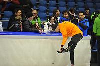 SCHAATSEN: HEERENVEEN: 01-02-2014, IJsstadion Thialf, Olympische testwedstrijd, Sven Kramer, Koriaanse pers, ©foto Martin de Jong