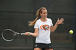 April 22, 2015; San Diego, CA, USA; Pacific Tigers tennis player Iveta Masarova during the WCC Tennis Championships at Barnes Tennis Center.
