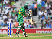 June 18th 2017, The Kia Oval, London, England;  ICC Champions Trophy Cricket Final; India versus Pakistan; Babar Azam of Pakistan plays the ball
