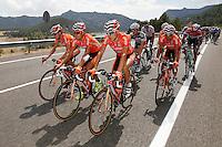 Amets Txurruka, Mikel Landa, Igor Anton and Ruben Perez during the stage of La Vuelta 2012 between Lleida-Lerida and Collado de la Gallina (Andorra).August 25,2012. (ALTERPHOTOS/Paola Otero) /NortePhoto.com<br /> <br /> **CREDITO*OBLIGATORIO** <br /> *No*Venta*A*Terceros*<br /> *No*Sale*So*third*<br /> *** No*Se*Permite*Hacer*Archivo**<br /> *No*Sale*So*third*