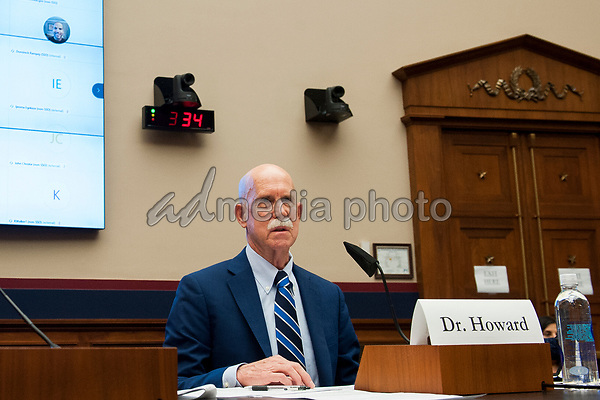 """John Howard MD, MPH,JD, LLM, MBA, Director, National Institute for Occupational Safety and Health, Washington, D.C. offers his opening remarks before a United States House Committee on Education and Labor Subcommittee on Workforce Protections Hearing: """"Examining the Federal Government's Actions to Protect Workers from COVID-19"""" in the Rayburn House Office Building on Capitol Hill in Washington, D.C., on Capitol Hill in Washington, DC, Thursday, May 28, 2020. <br /> Credit: Rod Lamkey / Pool via CNP/AdMedia"""