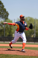 Houston Astros pitcher Pat Neshek (37) during a minor league spring training game against the Atlanta Braves on March 29, 2015 at the Osceola County Stadium Complex in Kissimmee, Florida.  (Mike Janes/Four Seam Images)
