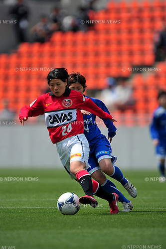 Hikaru Naomoto (Urawa Reds Ladis),.APRIL 15, 2012 - Football/Soccer : 2012 Plenus Nadeshiko League,1st sec match between AS Elfen Sayama FC 0-5 Urawa Reds Diamonds Ladis at NACK5 Stadium Omiya, Saitama, Japan. (Photo by Jun Tsukida/AFLO SPORT) [0003].