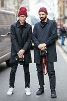 Tyler Joe and Diego Zuko at London Fashion Week (Photo by Hunter Abrams/Guest of a Guest)