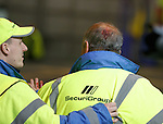 Celtic steward with head injury after Ajax fans rip out seats and throw them