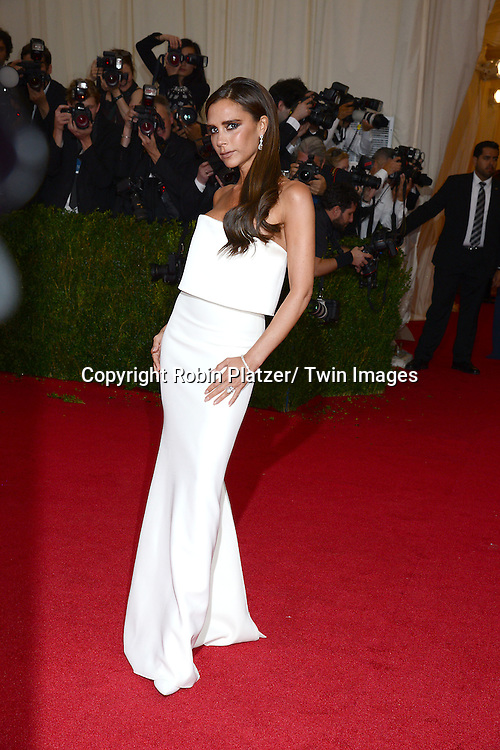 Victoria Beckham attend the Costume Institute Benefit on May 5, 2014 at the Metropolitan Museum of Art in New York City, NY, USA. The gala celebrated the opening of Charles James: Beyond Fashion and the new Anna Wintour Costume Center.