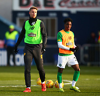 1st December 2019; Global Energy Stadium, Dingwall, Highland, Scotland; Scottish Premiership Football, Ross County versus Celtic; Kris Ajer of Celtic and Jeremy Frimpong of Celtic - Editorial Use