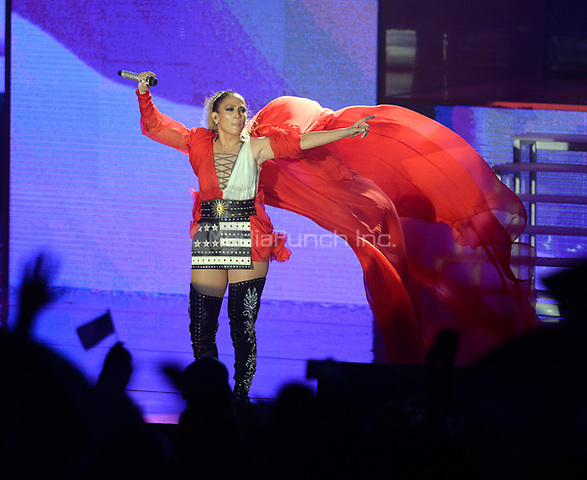MIAMI, FL - OCTOBER 29: Jennifer Lopez performs at the Jennifer Lopez Gets Loud for Hillary Clinton at GOTV Concert in Miami at Bayfront Park Amphitheatre on October 29, 2016 in Miami, Florida.   <br />