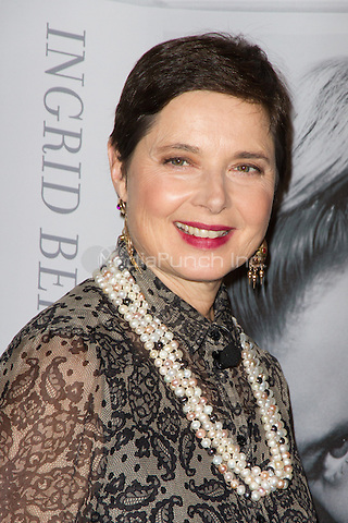 Isabella Rossellini attending a press conference for the book &quot;Ingrid Bergman - A life in pictures&quot; held at Museum fuer Kunst und Gewerbe, Hamburg, Germany, 04.10.2013. <br /> Photo by Christopher Tamcke/insight media /MediaPunch Inc. ***FOR USA ONLY***