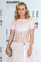 Diane Kruger arriving for the Elle Style Awards 2015, at The Sky Garden, London. 24/02/2015 Picture by: Alexandra Glen / Featureflash
