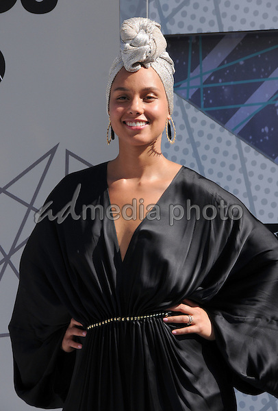 26 June 2016 - Los Angeles. Alicia Keys. Arrivals for the 2016 BET Awards held at the Microsoft Theater. Photo Credit: Birdie Thompson/AdMedia