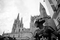 Sergio Henao (COL/SKY) in front of the Burgos cathedral after finishing his TT<br /> <br /> stage 17: Burgos-Burgos TT (38.7km)<br /> 2015 Vuelta &agrave; Espana