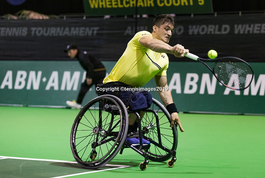 Rotterdam, The Netherlands, 14 Februari 2019, ABNAMRO World Tennis Tournament, Ahoy, Wheelchair, Gustavo Fernandez (ARG),<br /> Photo: www.tennisimages.com/Henk Koster