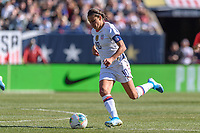 CHICAGO, IL - OCTOBER 06: Carli Lloyd #10 of the United States during a game between the USA and Korea Republic at Soldier Field, on October 06, 2019 in Chicago, IL.
