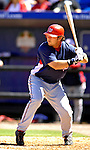 17 March 2007: Washington Nationals outfielder Chris Snelling in action against the New York Mets at Tradition Field in Port St. Lucie, Florida...Mandatory Photo Credit: Ed Wolfstein Photo