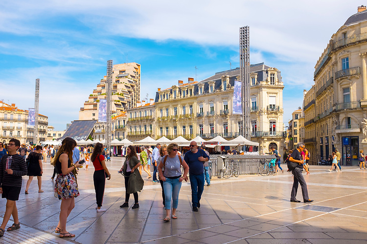 Place de la Comedie, the main square Montpellier, France