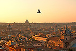 View from the top of the Altare della Patria at sunset