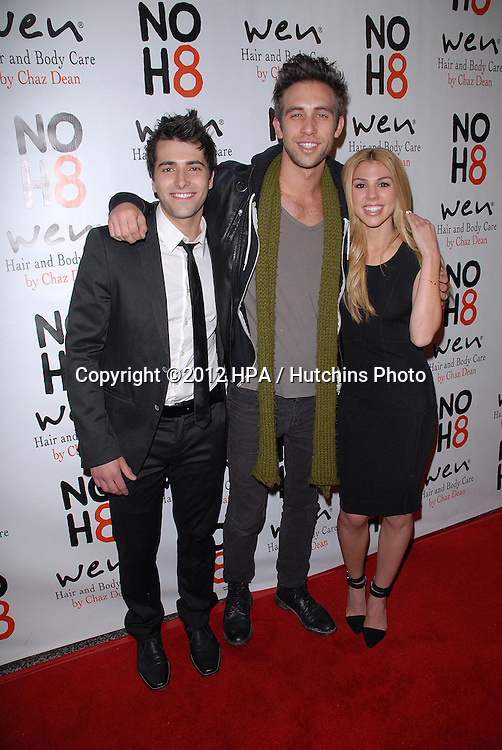 LOS ANGELES - DEC 12:  Freddie Smith, Blake Berris, Kate Mansi arrives to the NOH8 4th Anniversary Party at Avalon on December 12, 2012 in Los Angeles, CA