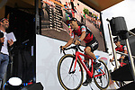 Richie Porte (AUS) BMC Racing Team on stage at the Team Presentation in Burgplatz Dusseldorf before the 104th edition of the Tour de France 2017, Dusseldorf, Germany. 29th June 2017.<br /> Picture: Eoin Clarke | Cyclefile<br /> <br /> <br /> All photos usage must carry mandatory copyright credit (&copy; Cyclefile | Eoin Clarke)