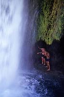 Havasupai Canyon with waterfall and pool in Arizona, USA